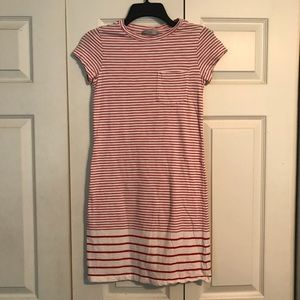 DALIA Women's XS Red White Stripe T-Shirt Dress